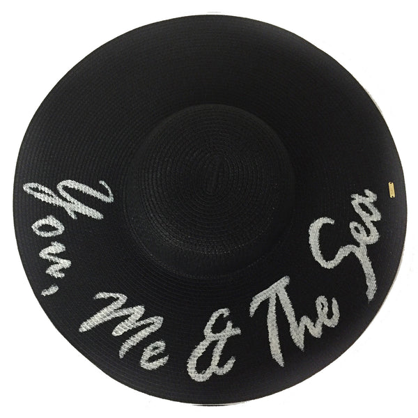 You, Me and the Sea Hat - Black | Abaco Beach Co