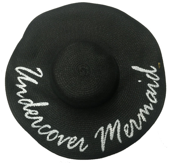 Undercover Mermaid Hat - Black - 2 | Abaco Beach Co