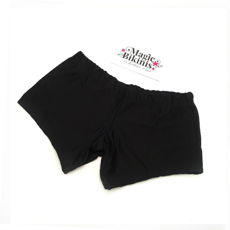 Men's Classic Hot Pants in Black Lycra - Size Extra Large