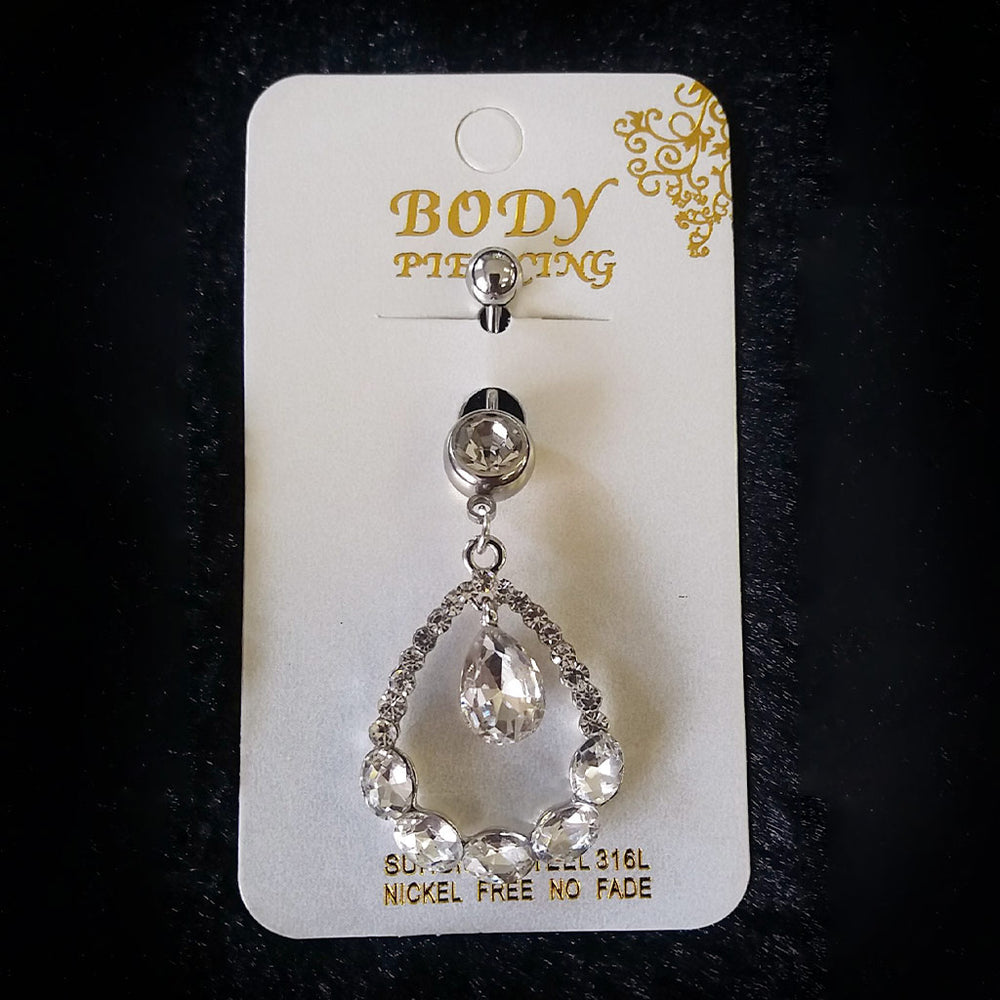 Teardrop Diamante Belly Ring 16