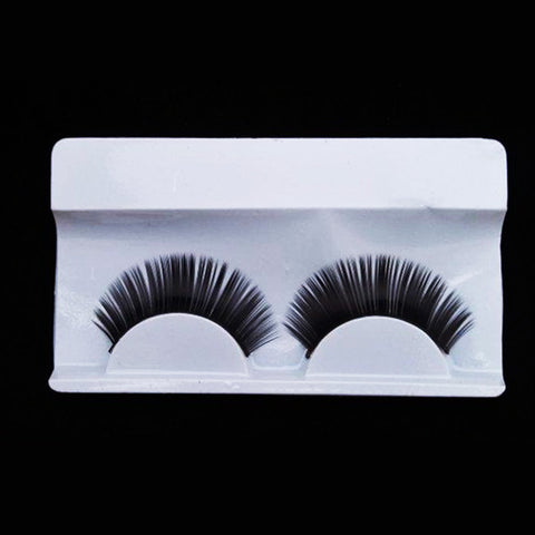 Long thick lashes