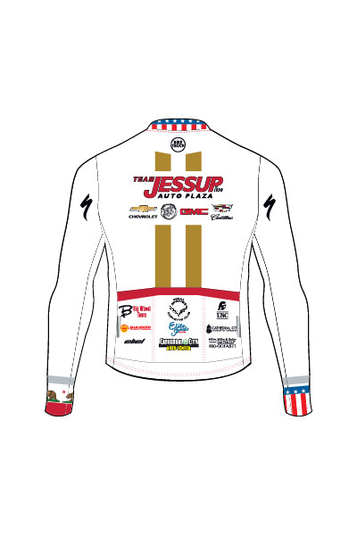 Jessup Auto - CA STATE & USA CHAMP ONLY - WHITE - Men's Ventura Long Sleeve Jersey - #AEJE818-1