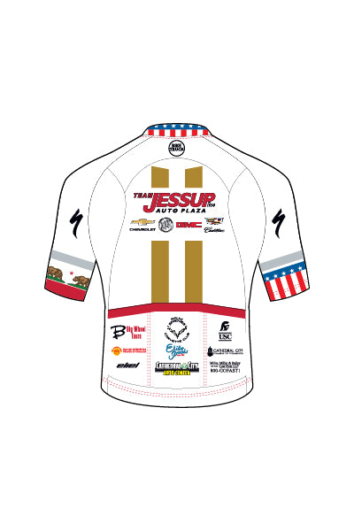 Jessup Auto - CA STATE & USA CHAMP ONLY - WHITE - Mavericks Men's Jersey - Aero Race Fit - #AEJE818-1
