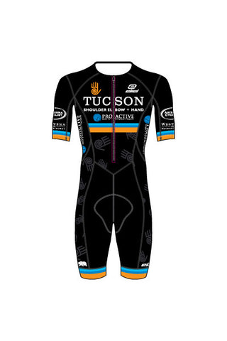 Tucson Masters - MSS02/MSSL02 BLACK Men's Mavericks Short or Long Sleeve Aero Speedsuit - #1289