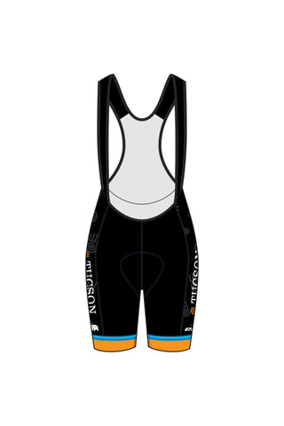 Tucson Master's - WBD02 BLACK Women's Laguna Seca Bib Shorts (Hand on Side Design) - #1289
