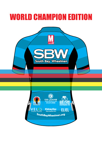 South Bay Wheelmen 2019 - WORLD CHAMP  - Women's Rincon Jersey (CHARLIE) - #ESO1018-1