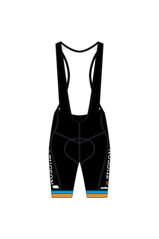 Tucson Master's - MBS02 BLACK Laguna Seca Men's Bib Shorts (Black Version 9A) - #1289