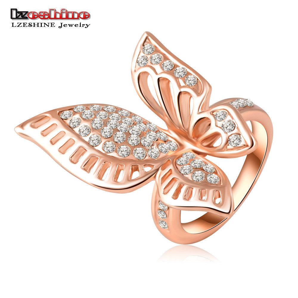 designer gb gold ring butterfly design with rings