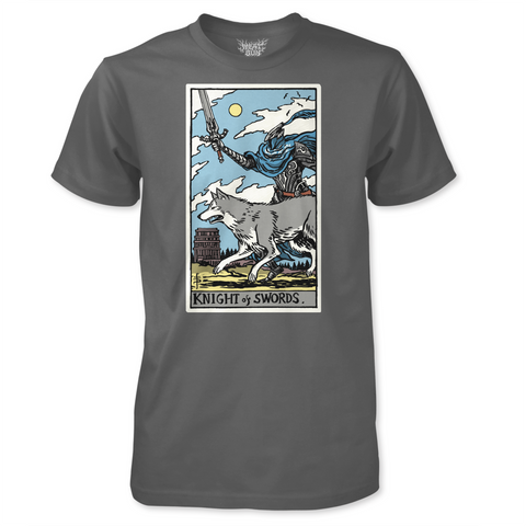 Knight of Swords - by Meat Bun - Artorias and Sif Tarot Card T-Shirt
