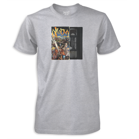 Ninja Sekiro VHS - by Meat Bun - Heather Grey T-Shirt