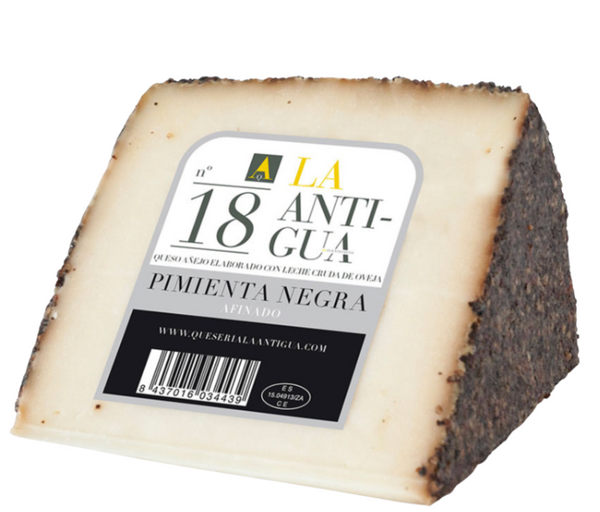 AGED SHEEP CHEESE WITH BLACK PEPPER ( 360-400 GR)