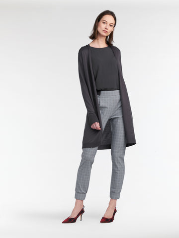 Mid-Length Open Cardigan