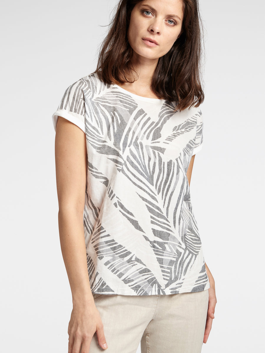 Leaf Pattern Short Sleeve T-shirt