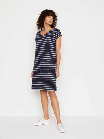 Day to Day Striped Jersey Dress