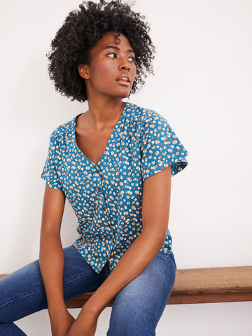 Button Front Organic Top