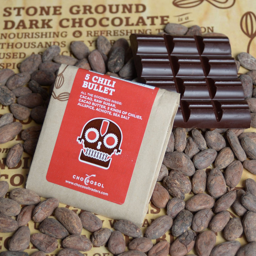 Organic Five Chili Bullet Chocolate