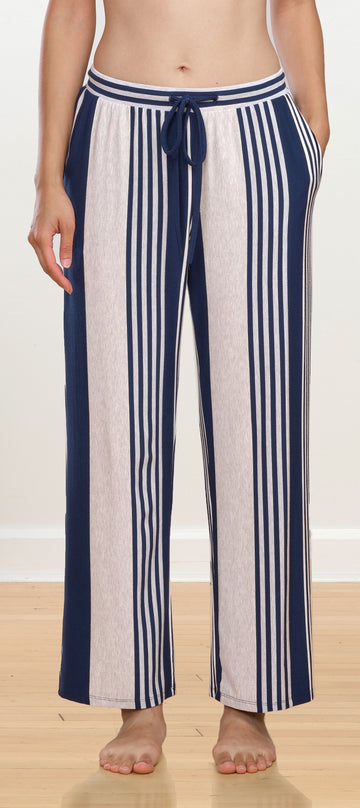 Anya Drawstring Pant - Nautical Stripe