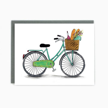 Blank Bicycle card with basket