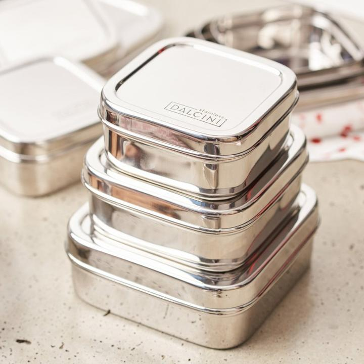 Stainless Steel Square Container Trio