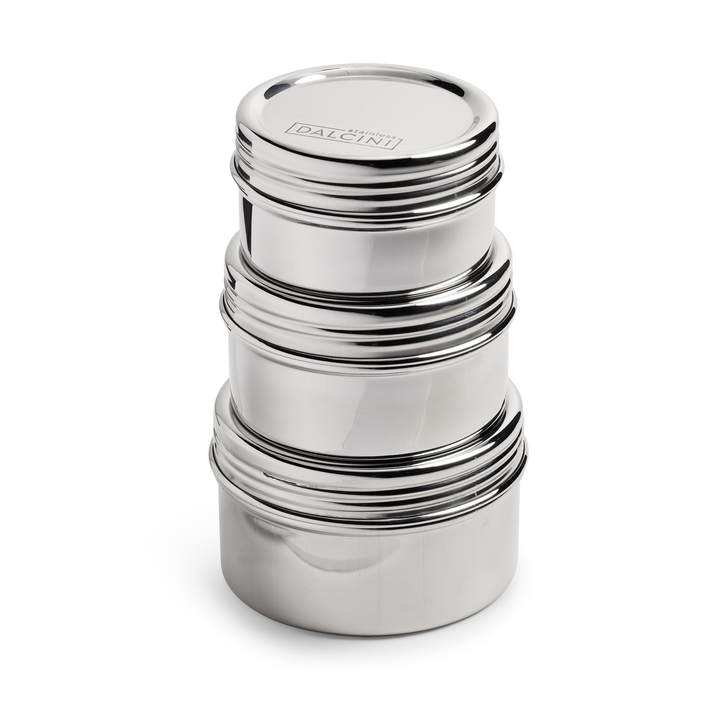 Stainless Steel Twist-Top Container Trio