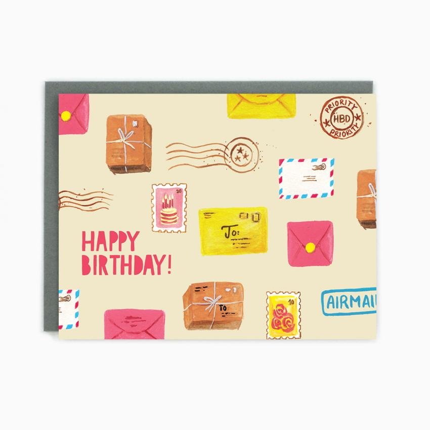 Happy Birthday Postcard Card