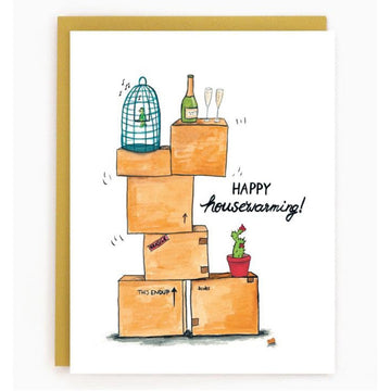 House warming boxes card
