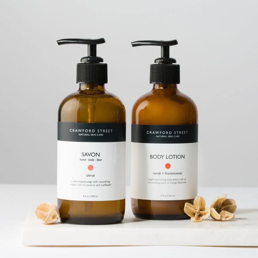 Orange Blossom Hand Soap and Lotion Set