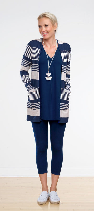 Lana Cardigan - Nautical Stripe