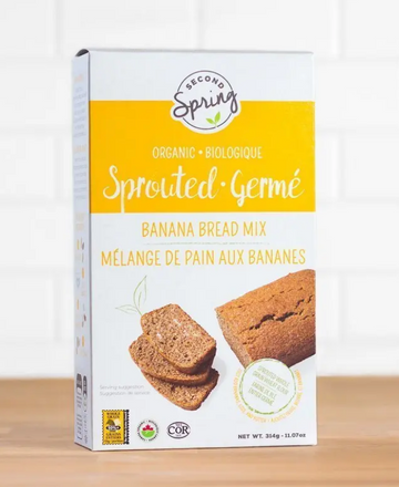 Organic Sprouted Grains Banana Bread Mix