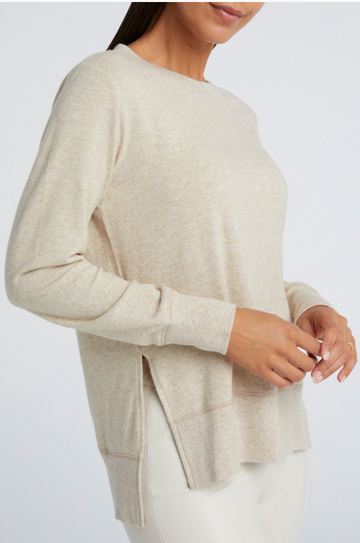 Brushed Sweater with Side Slits