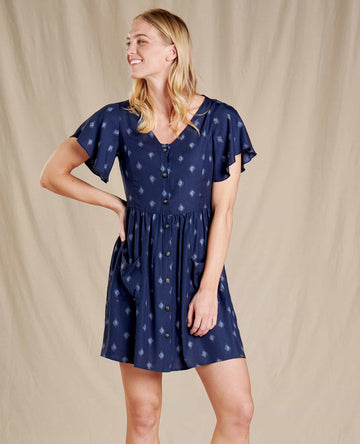 Hillrose Button Up Short Sleeve Dress