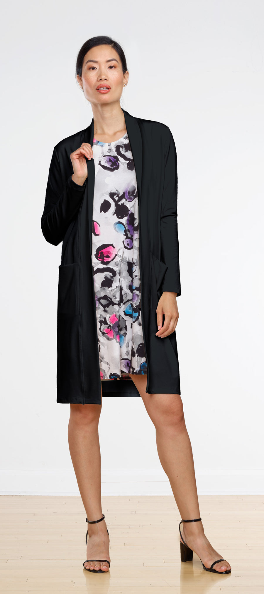 Aria Long Cardi with Lapel