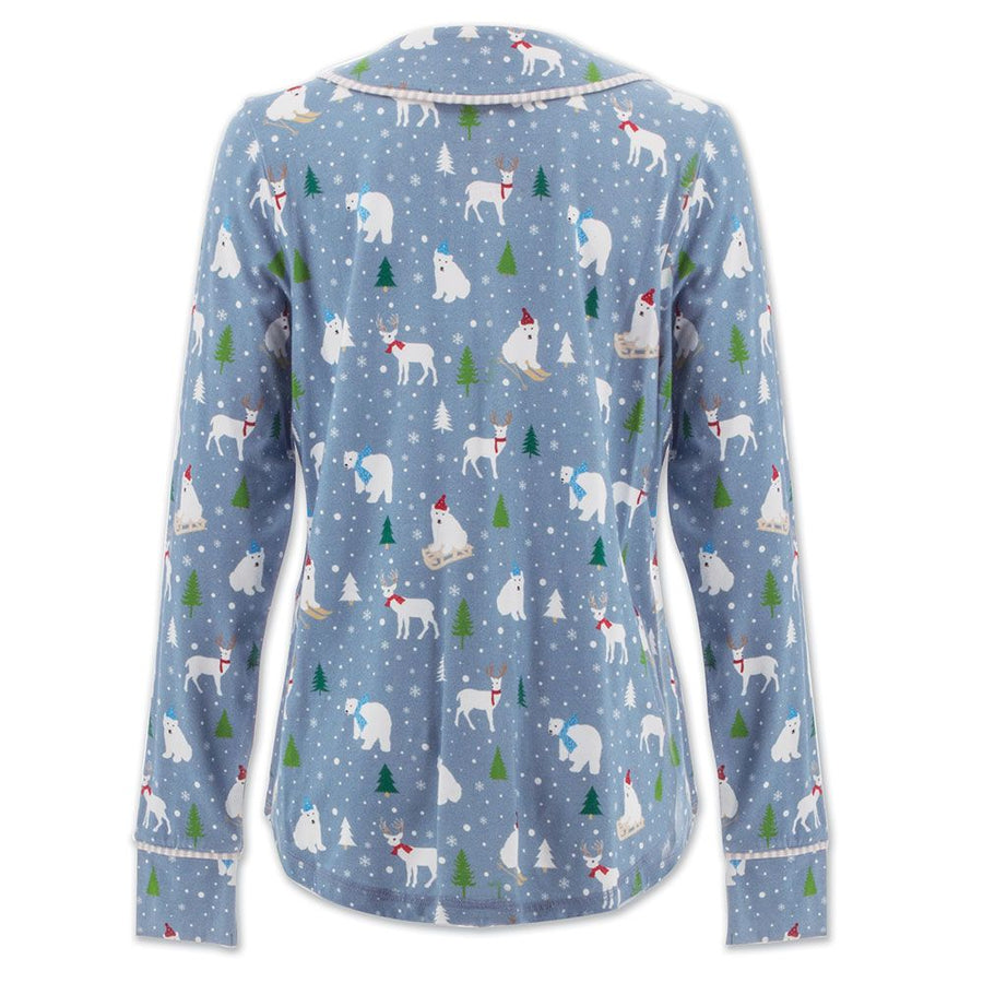 Polar Bear Button Pajama Top