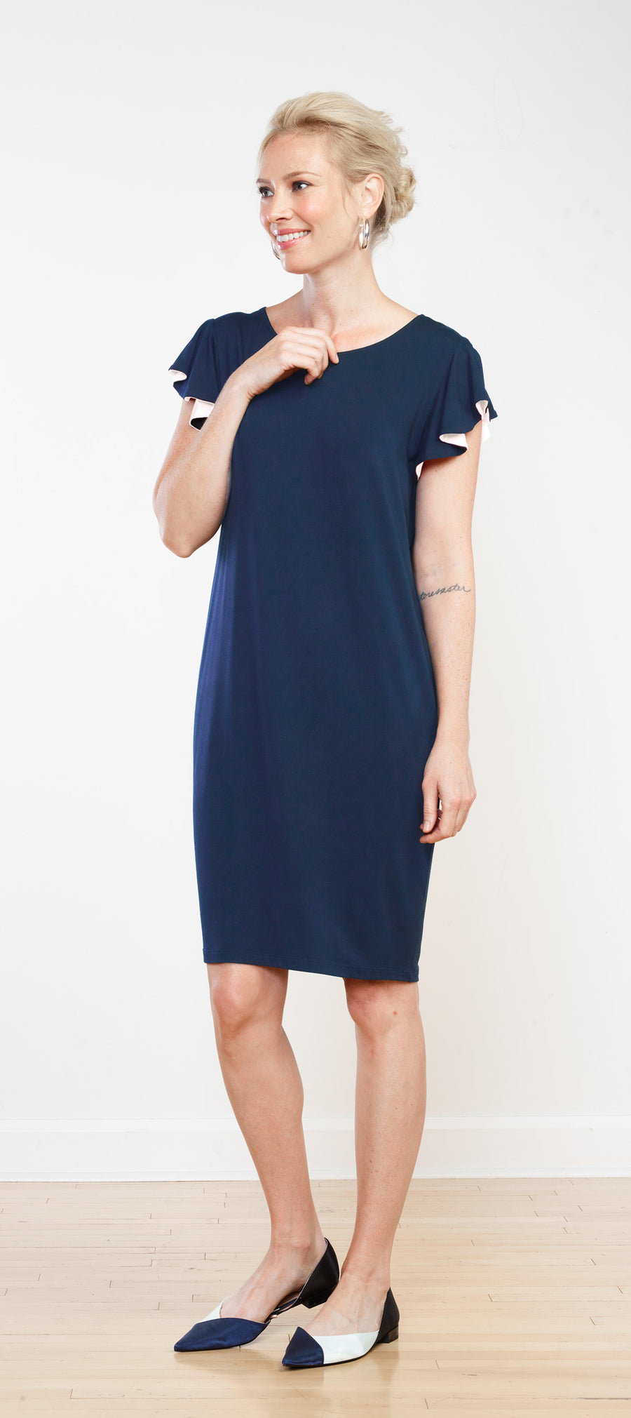 Isabella Ruffle Sleeve Dress