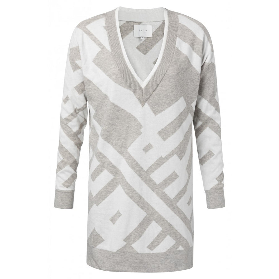 Jacquard sweater with graphic print