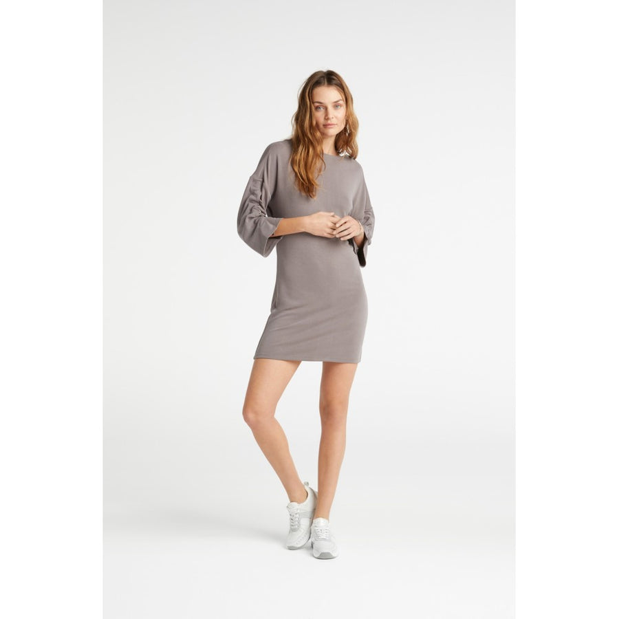Jersey Dress with Drawstring