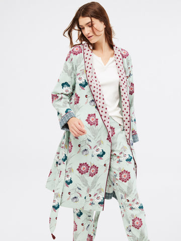 Trailling Flower Unlined Robe