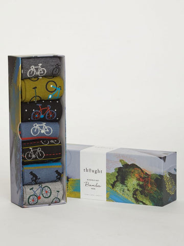 Bike Rider Bamboo Sock Box