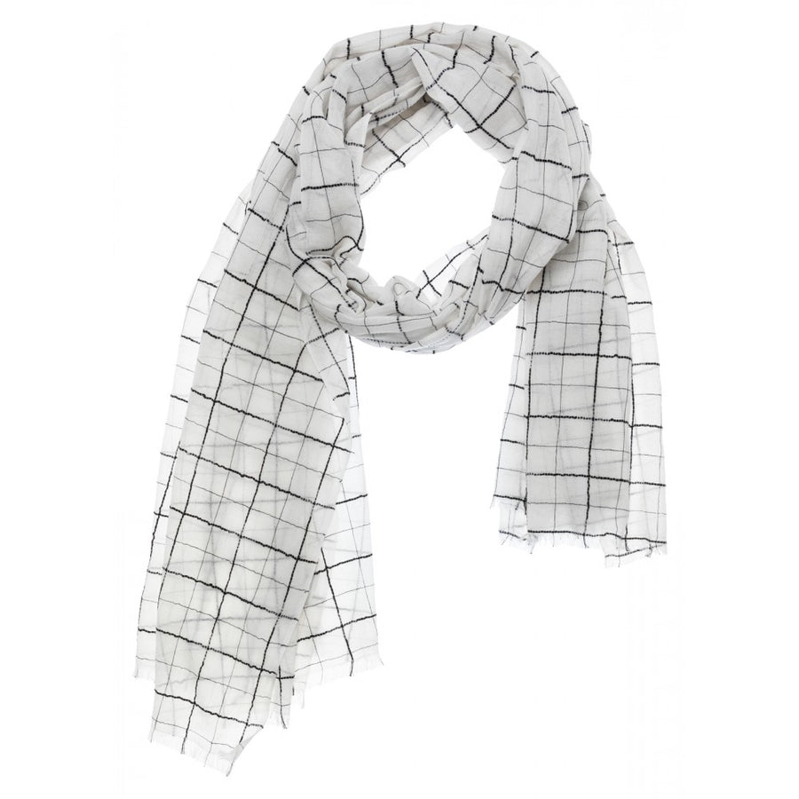 Scarf with Checked Print
