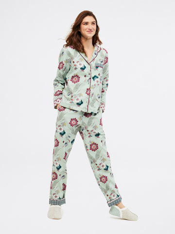 Trailling Flower PJ Set