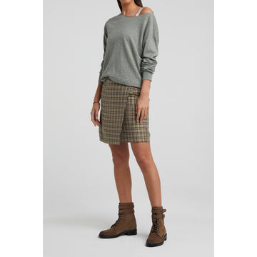 Lightweight Cotton Blend Boatneck Sweater