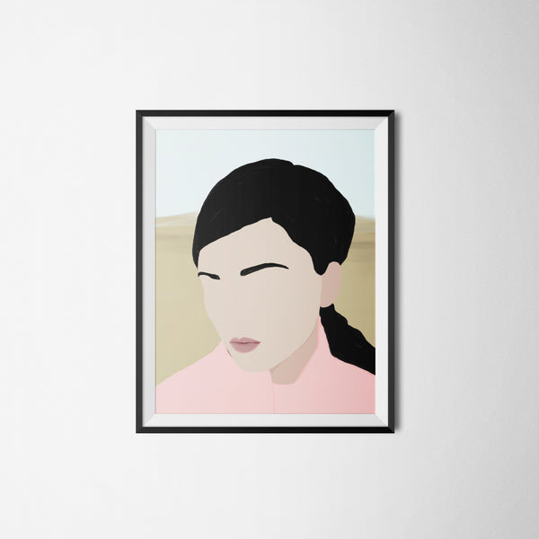 """Abigail"" by Jules Tillman is a minimal, modern portrait of a woman."