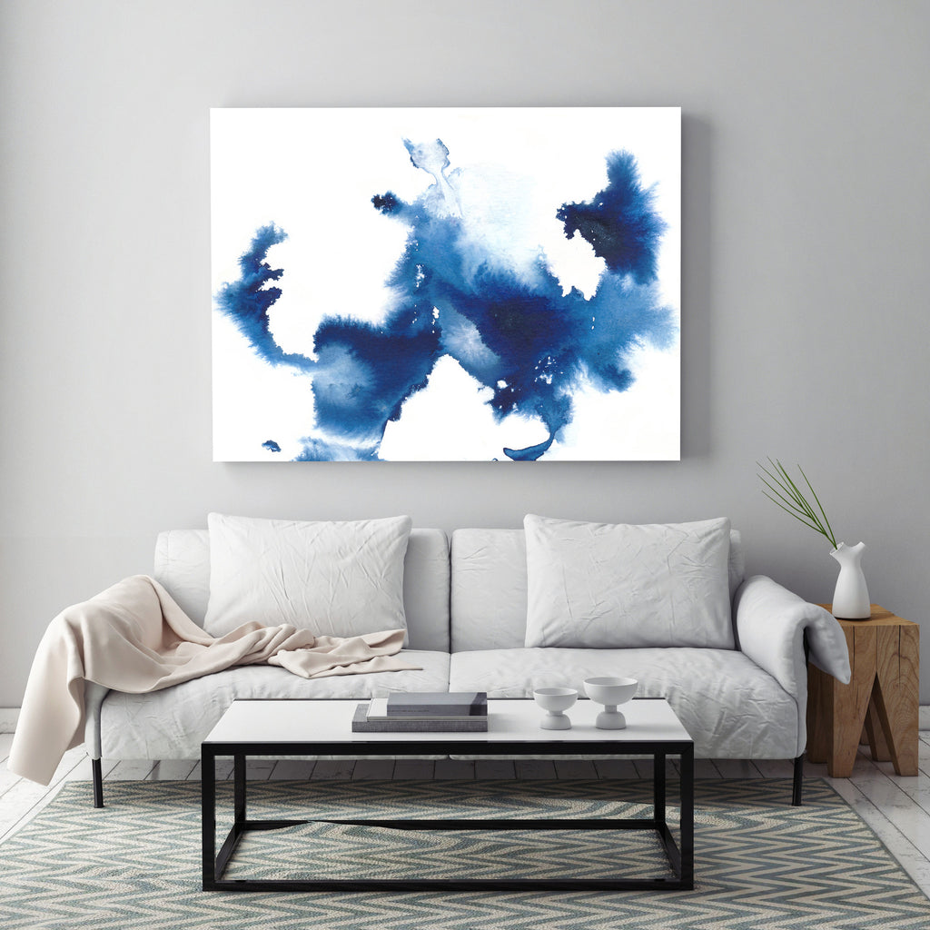 Creation in Air by Jules Tillman - Blue Abstract Painting
