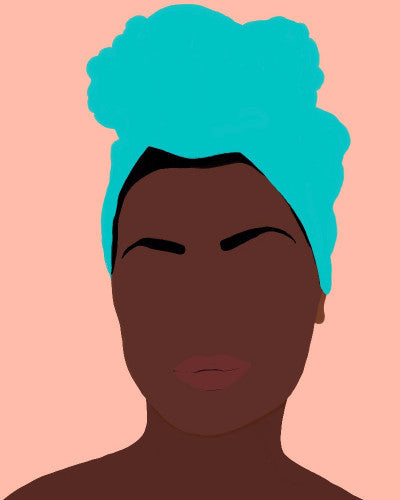"""Ava"" by Jules Tillman is a minimal, modern portrait of an African American woman."