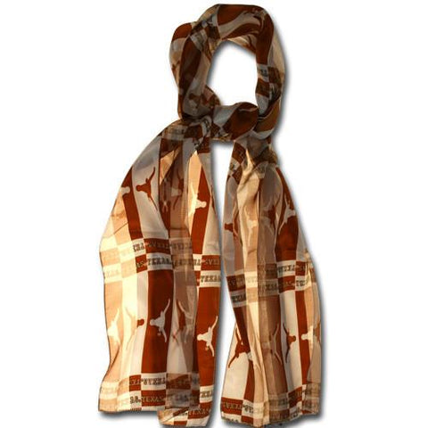 UT University of Texas Longhorns Scarf- Silky