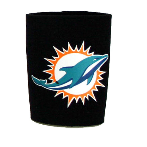 Miami Dolphins Neoprene Can Coozie- Black