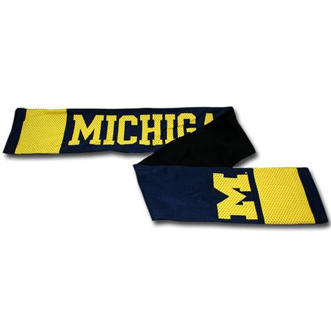 University of Michigan Wolverines Scarf – Jersey with Fleece Lining