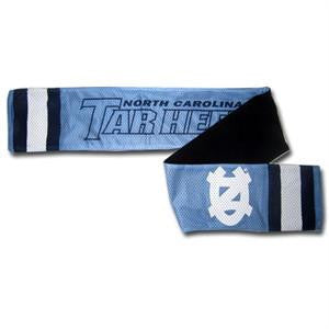 UNC North Carolina Tar Heels Scarf – Jersey with Fleece Lining
