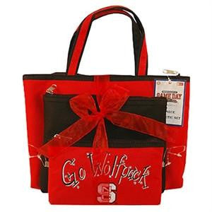 NC North Carolina State Wolfpack Cosmetic Bag 3pc Set