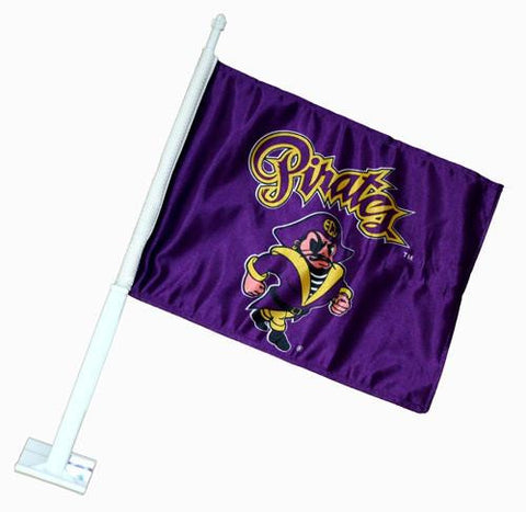 ECU East Carolina Pirates Car Flag – Purple w/ Pirate